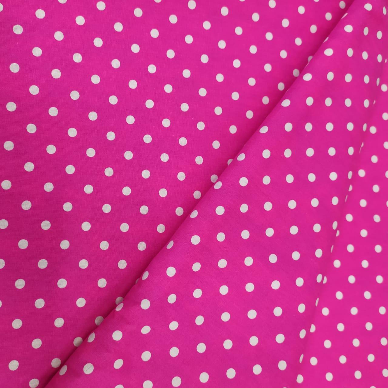 Tricoline Poá Pink 10 metros
