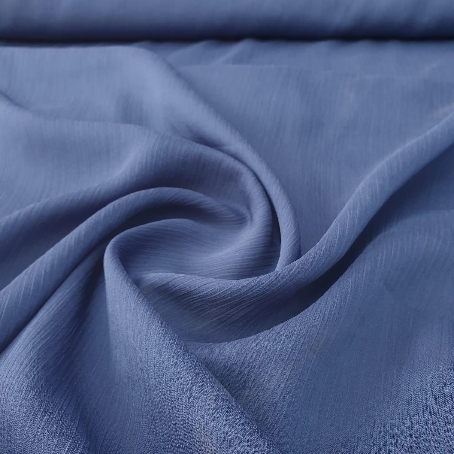 Chiffon Lurex Azul Marinho