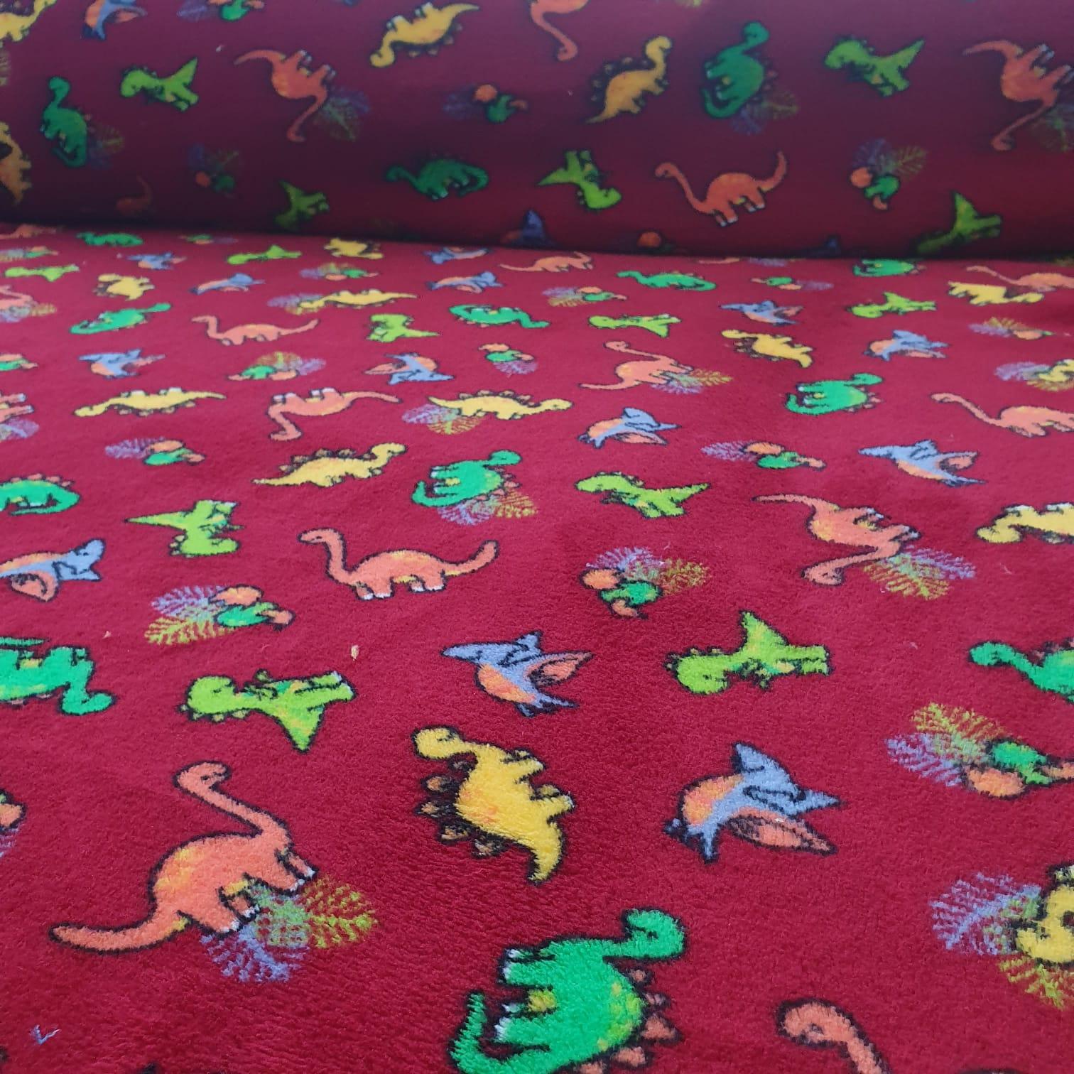 Malha Soft Dinossauro Colorido