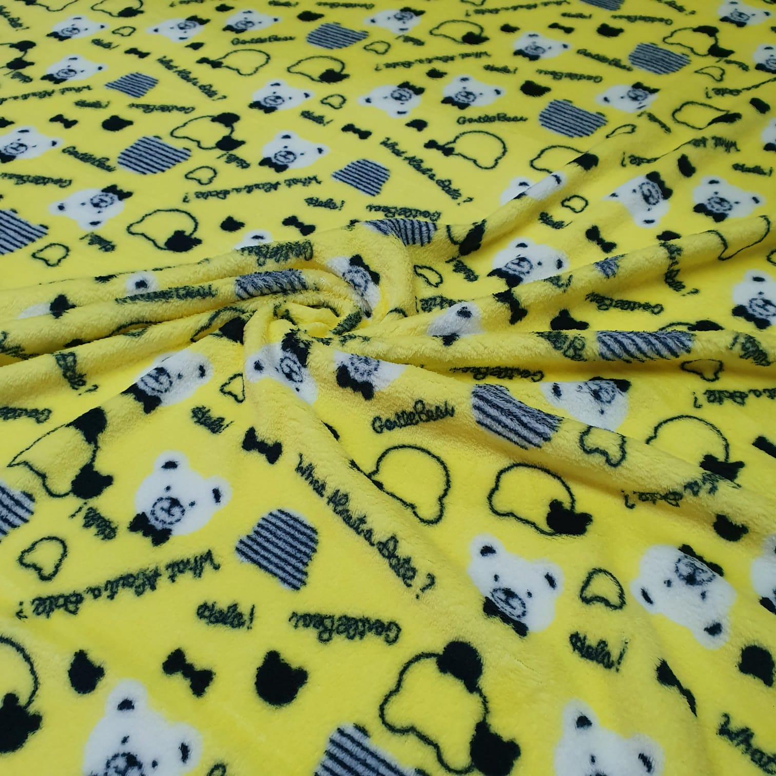 Malha Soft Ursinho Amarelo