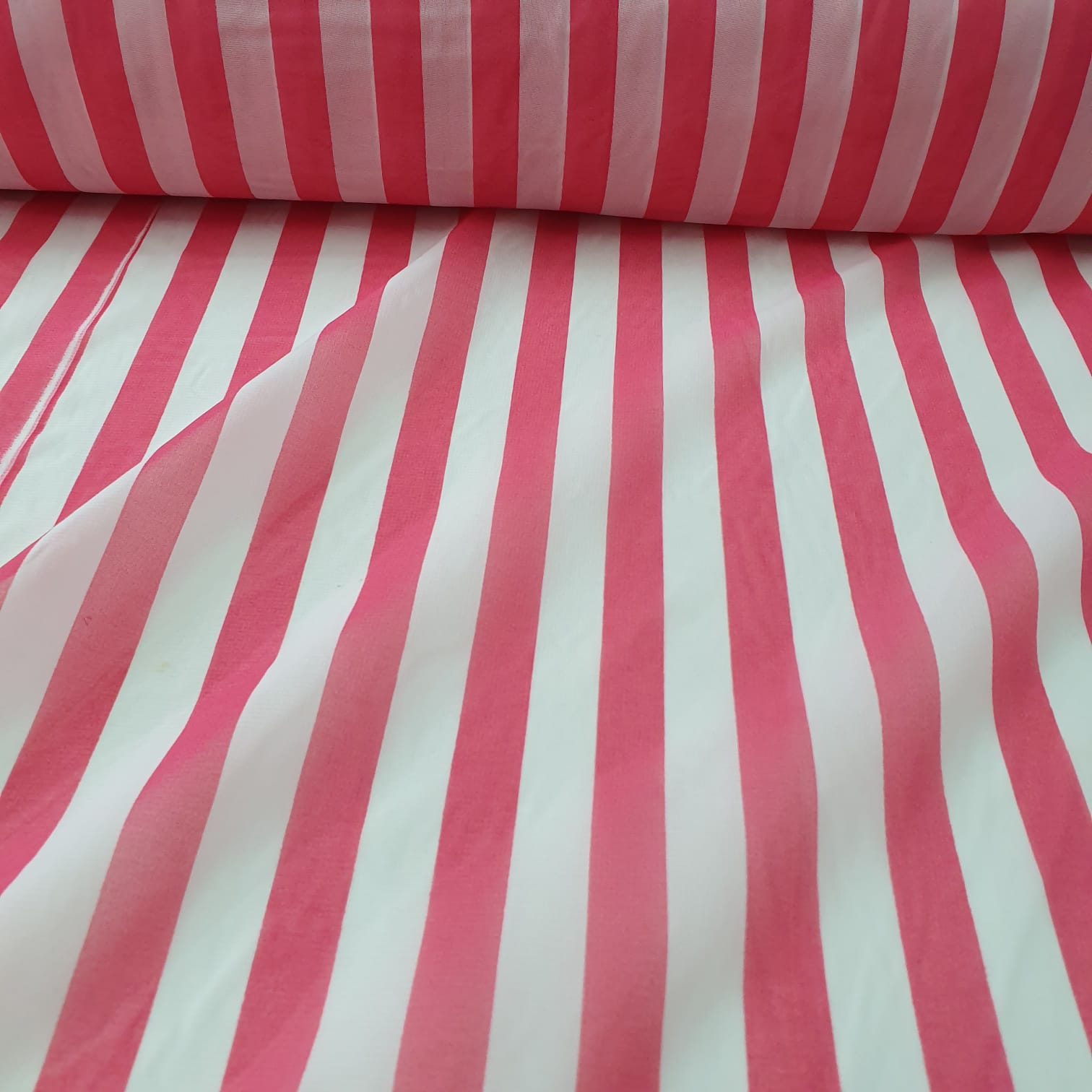 Chiffon Estampado Listrado Pink