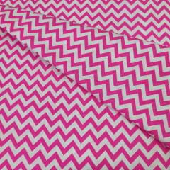 Tricoline Chevron Pink 10 metros