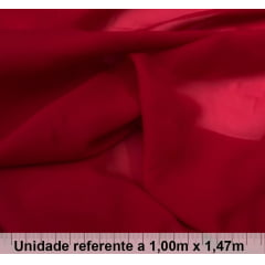 Chiffon Vermelho Escuro