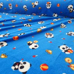 Malha Soft Panda Azul