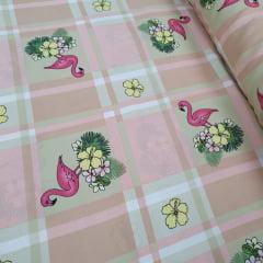 Oxford Estampado Flamingo Rosa