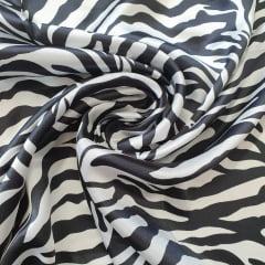 Cetim Estampado Zebra
