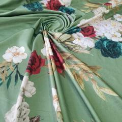 Suplex Estampado Floral Verde