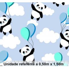 Tricoline Exclusiva Marantex Panda Azul