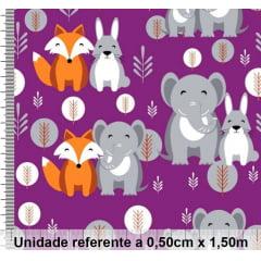 Tricoline Exclusiva Marantex Raposa e Elefante 2