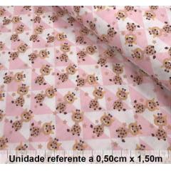 Tricoline Girafinha Geométrica Rosa