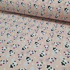 Tricoline Panda Novo Rosa