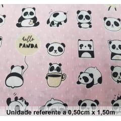 Tricoline Panda Rosa