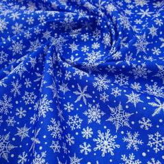 Tricoline Azul Flocos