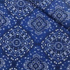 Tricoline Bandana Marantex Azul Royal