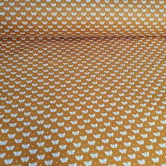 Tricoline Borboleta Amarelo Açafrão