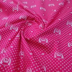 Tricoline Coroa Ramos Pink