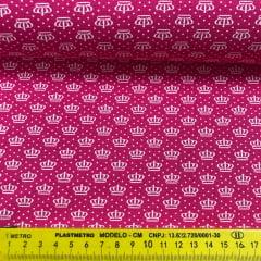 Tricoline Coroinhas Poá Pink