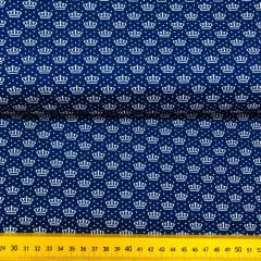 Tricoline Coroinhas Poá Azul