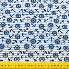 Tricoline Âncoras Azul