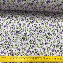 Tricoline Floral Lilás