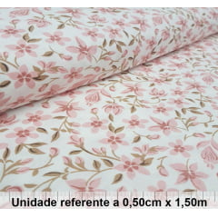 Tricoline Floral Rosê