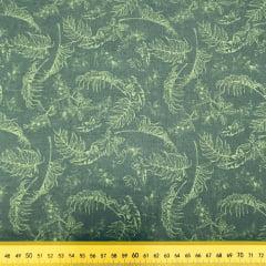 Tricoline Folhas Verde G