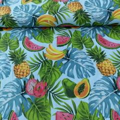 Tricoline Frutas Coloridas