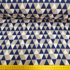 Tricoline Triângulo Azul Marinho