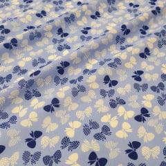 Tricoline Laços Azuis