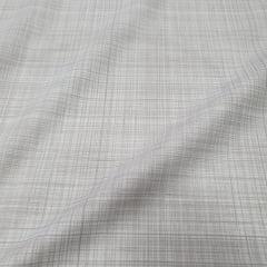 Tricoline Linho Branco e Cinza