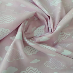 Tricoline Nuvens Rosa BB