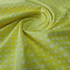 Tricoline Poá Amarelo
