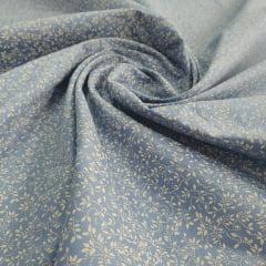 Tricoline Raminhos Azul Antigo