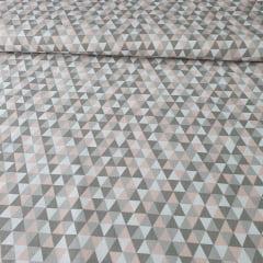 Tricoline Triângulo Pequeno Rosa
