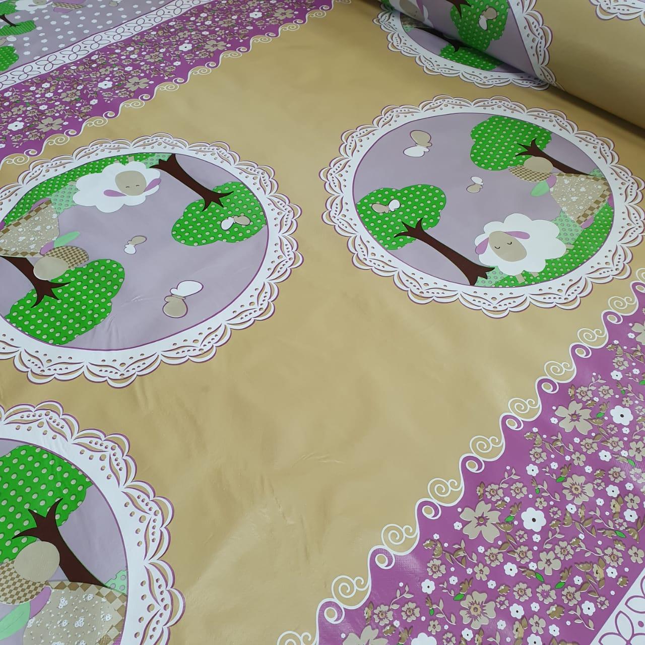 Toalha Plástica Barrada Ovelha