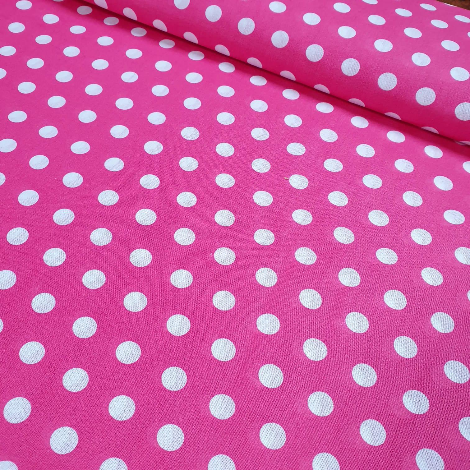 Tricoline Mista Poá Grande Pink