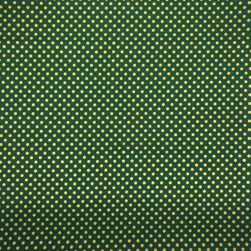 Tricoline Exclusiva Natal Poá Pequeno Verde