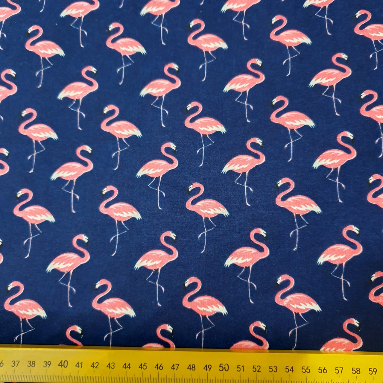 Tricoline Flamingo Azul Marinho