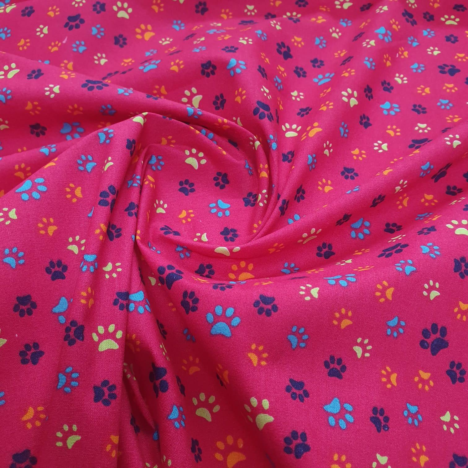 Tricoline Patinhas Rosa Pink