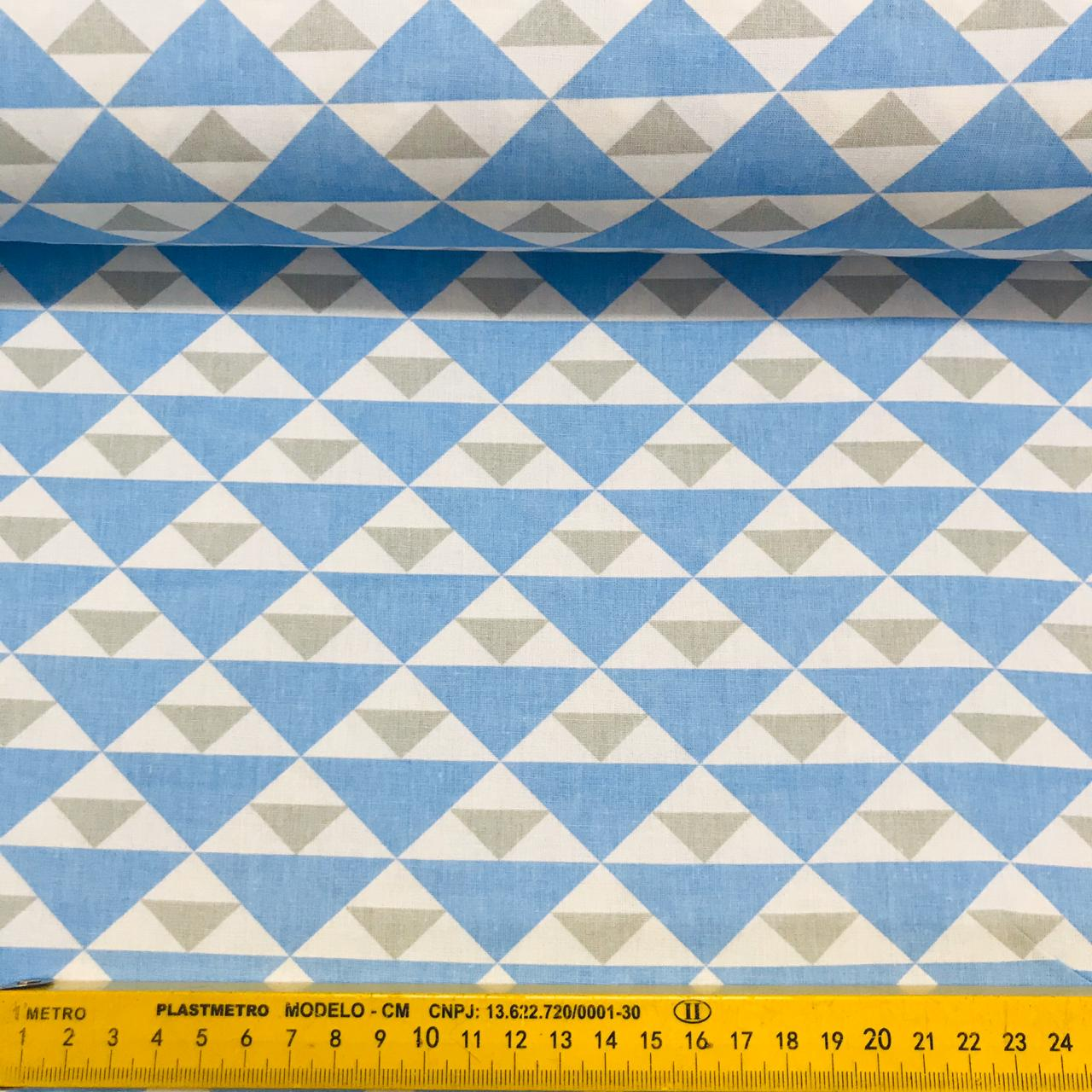 Tricoline Triângulo Azul