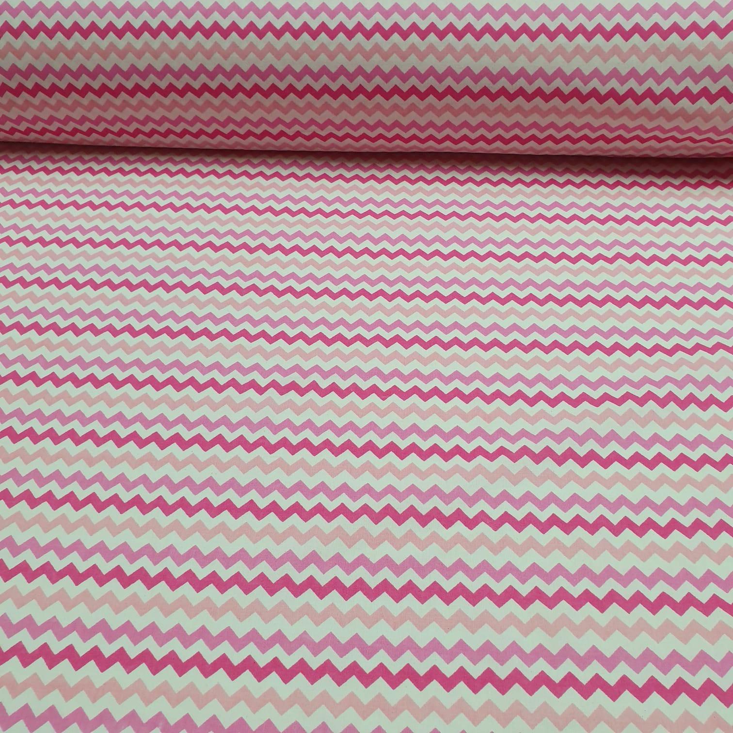 Tricoline Zigzag Rosa