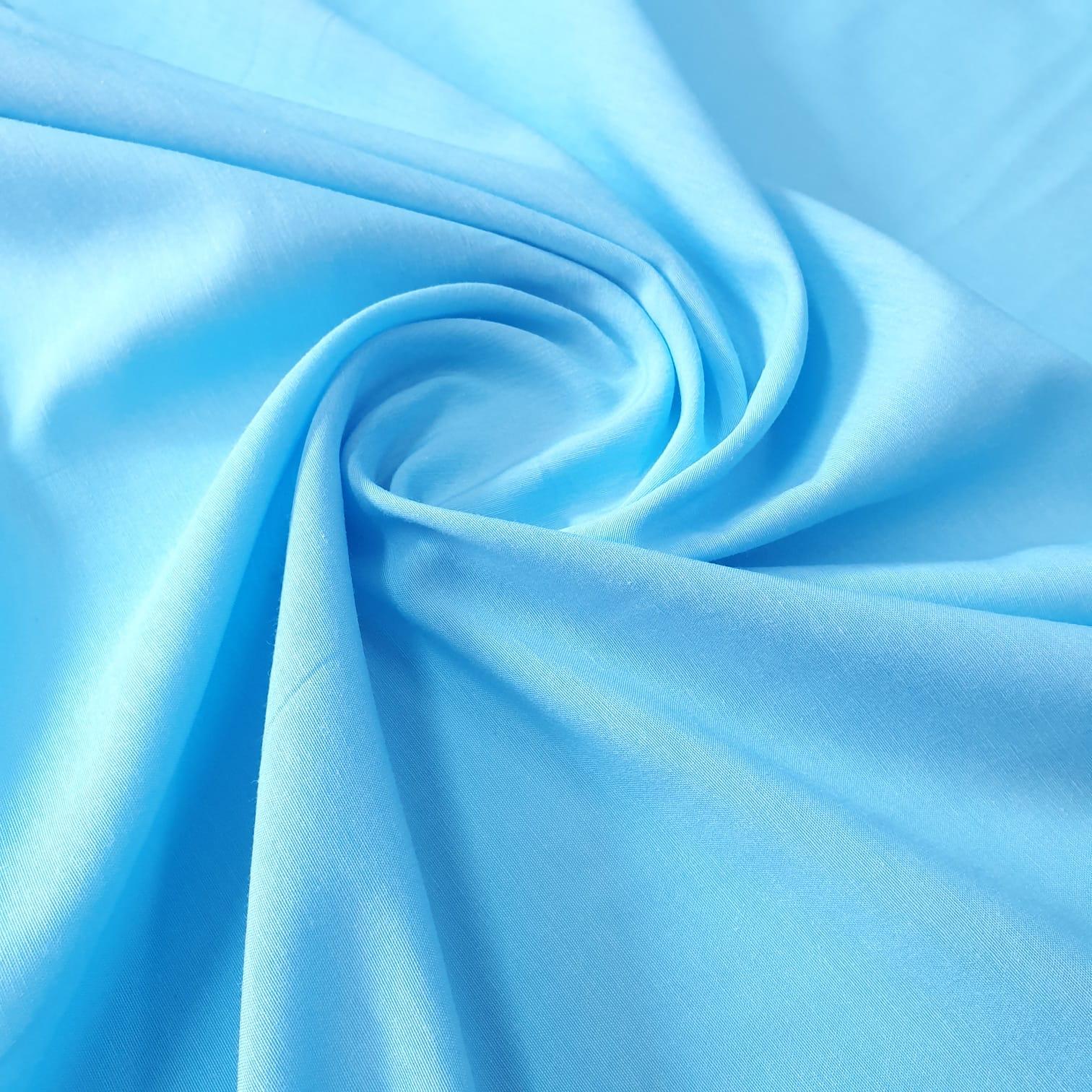 Tricoline Mista Lisa Azul Turquesa