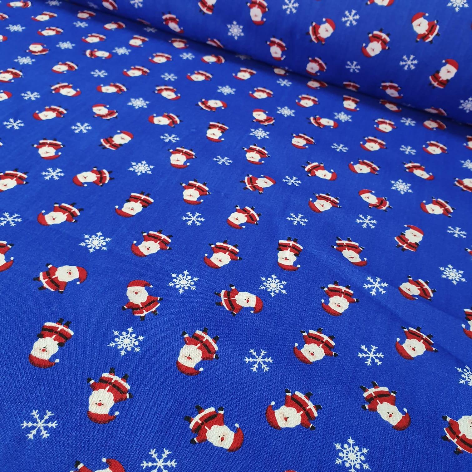 Tricoline Papai Noel Azul