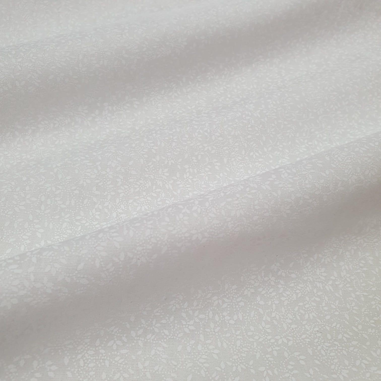 Tricoline Raminhos Branco